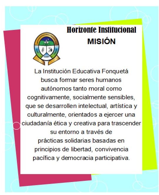 misión colegio